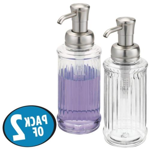 mDesign Fluted Liquid Hand Soap for Sink, Bathroom