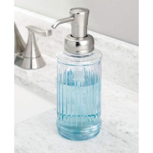 mDesign Fluted Liquid Soap Dispenser for