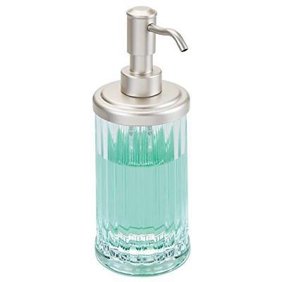 fluted plastic refillable liquid soap dispenser pump