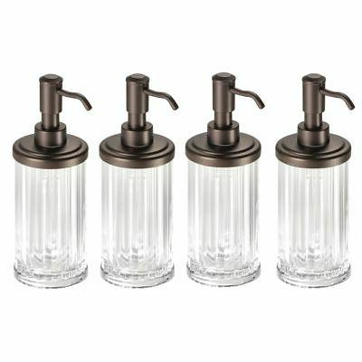 fluted refillable liquid soap dispenser pump