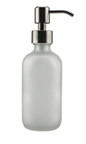 Cornucopia Frosted Soap Dispenser Steel Pumps Round Bottles Pump Tops and