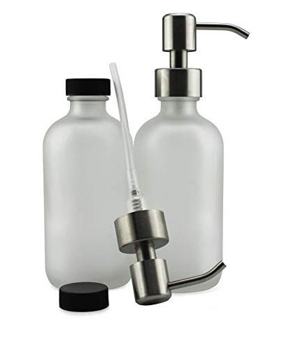 Cornucopia Brands Glass Soap w/Stainless Pumps Bottles and
