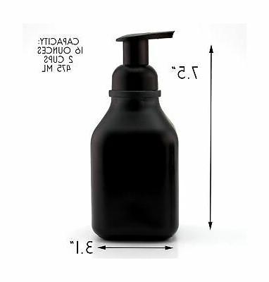 Cornucopia Brands Soap Dispensers (3-Pack, Black-Coated ...