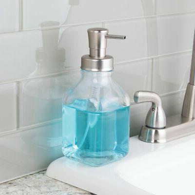 mDesign Glass Foaming Hand Soap Pump
