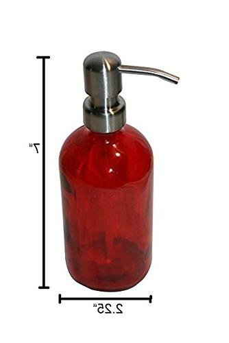Industrial 8oz Soap Dispenser with Metal Pump Soap or