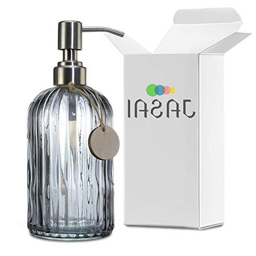 JASAI Soap with Rust Proof Pump Bottle for Kitchen, Bath, Bathroom Accessories, Countertop