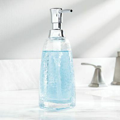 glass tall refillable liquid soap pump dispenser