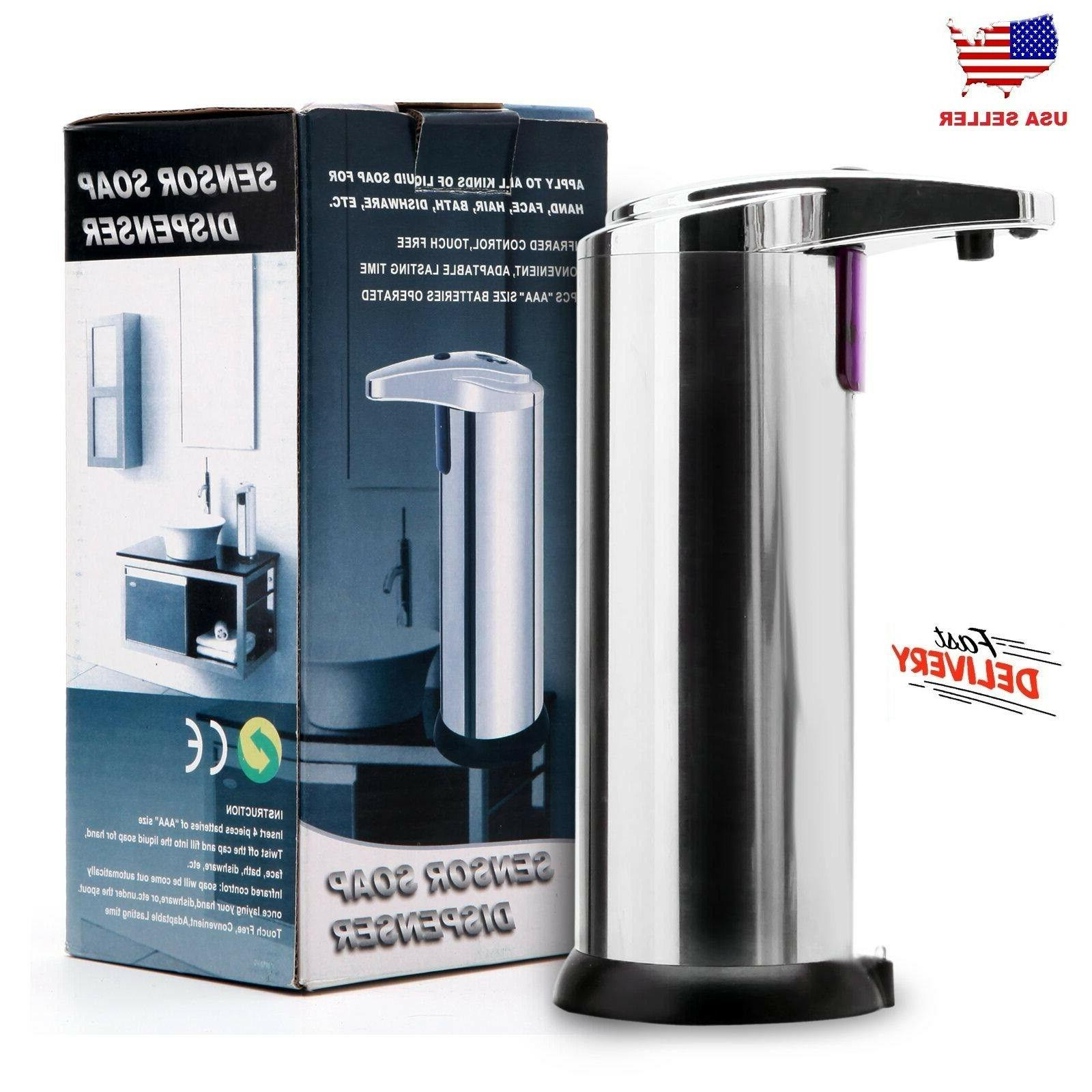 hands free automatic stainless steel soap dispenser