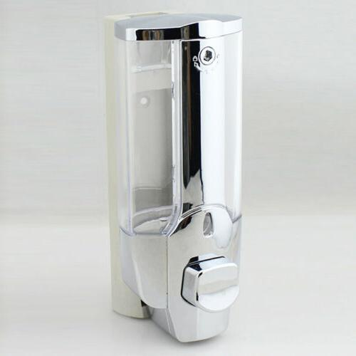 Soap Dispenser Bathroom Wall Mount Shower Shampoo Lotion Con