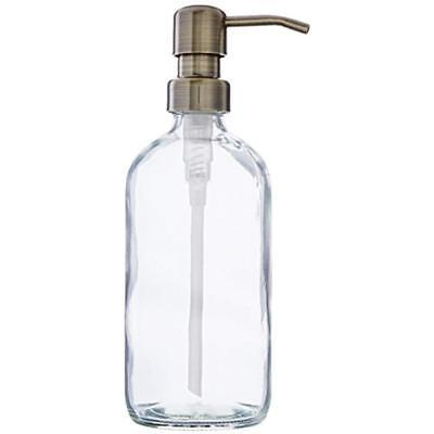 industrial rewind clear glass soap dispenser
