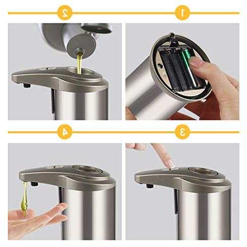 Cakie Motion Stainless Dish Liquid Free Dispenser, 2019new