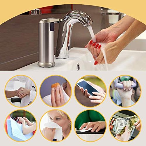 Cakie Motion Sensor Stainless Liquid Free Auto Soap Dispenser, Upgraded Waterproof Base, 2019new