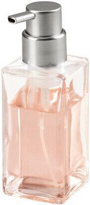 InterDesign Casilla Modern Glass Pump Liquid Foam Hand Soap