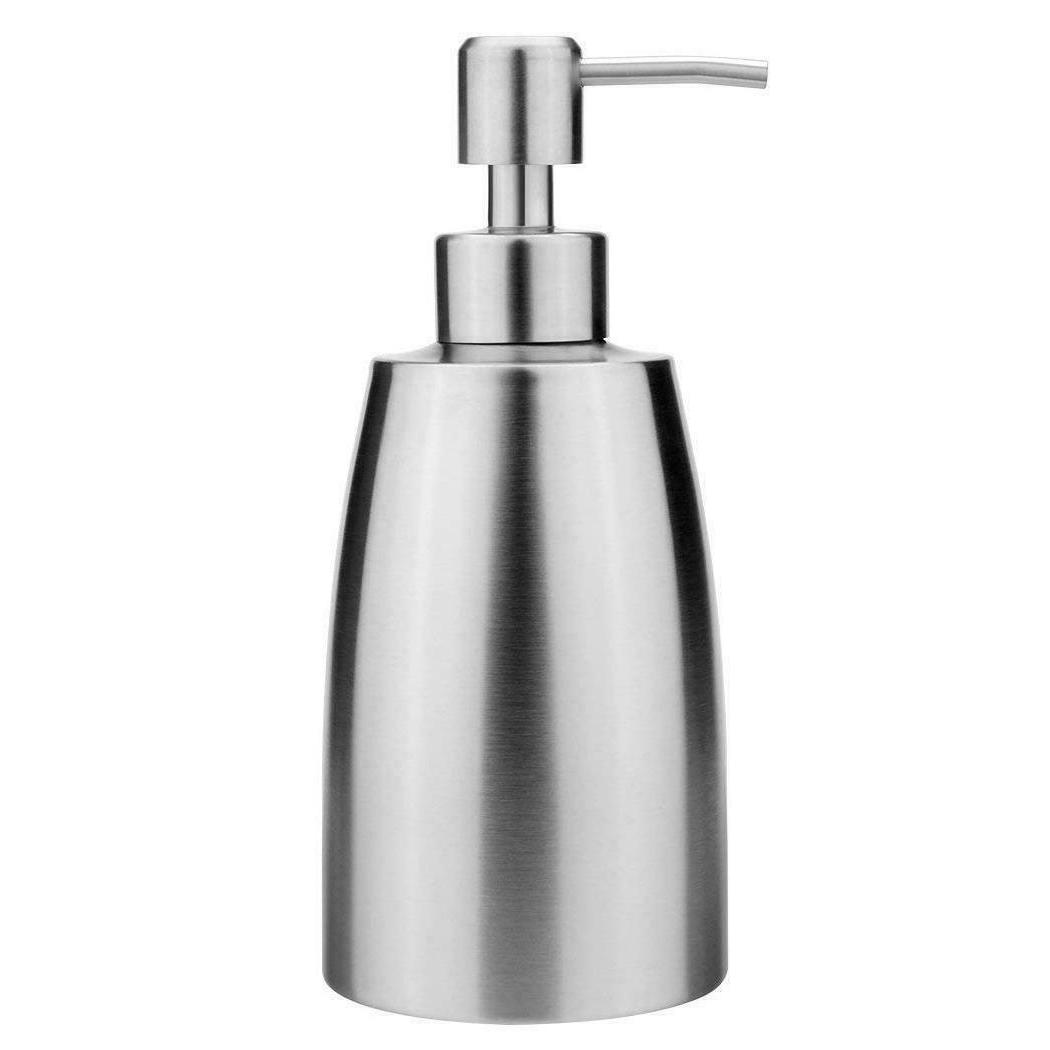 Kitchen Bathroom Stainless Steel Pump Liquid Soap Lotion Dis
