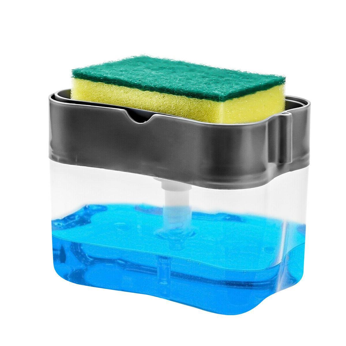 kitchen liquid soap pump dispenser abs sponge