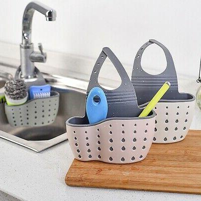 Kitchen Sink Caddy Basket Organiser Dish Cleaning Sponge Hol