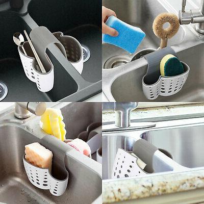 Kitchen Organizer Sink Caddy Basket Sponge Holder Dispenser
