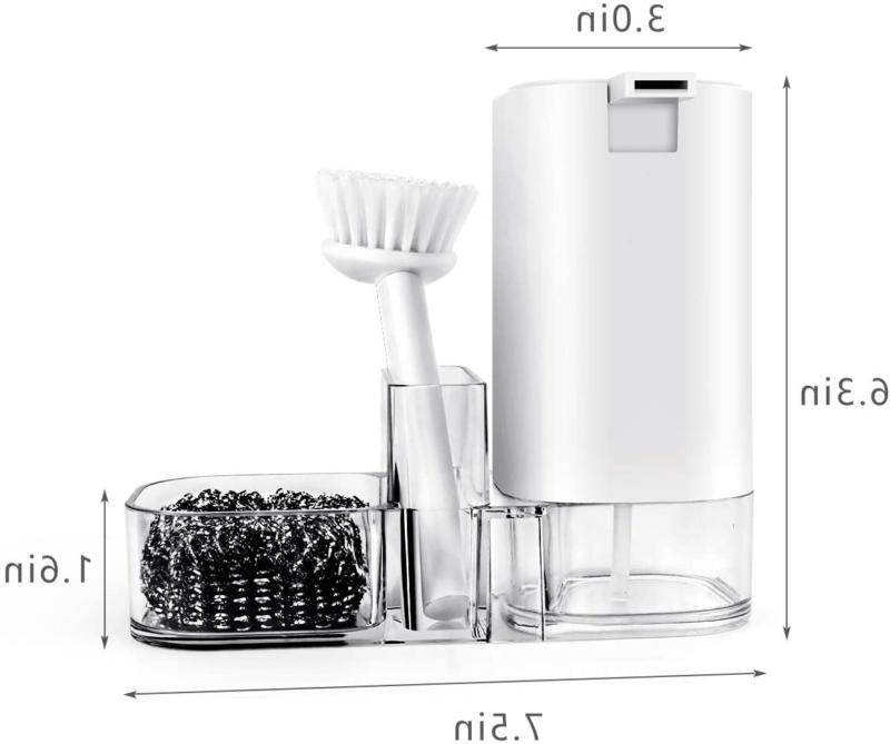 Kitchen Sink Countertop Organizer Soap Storage Box, Multifunctional Cl