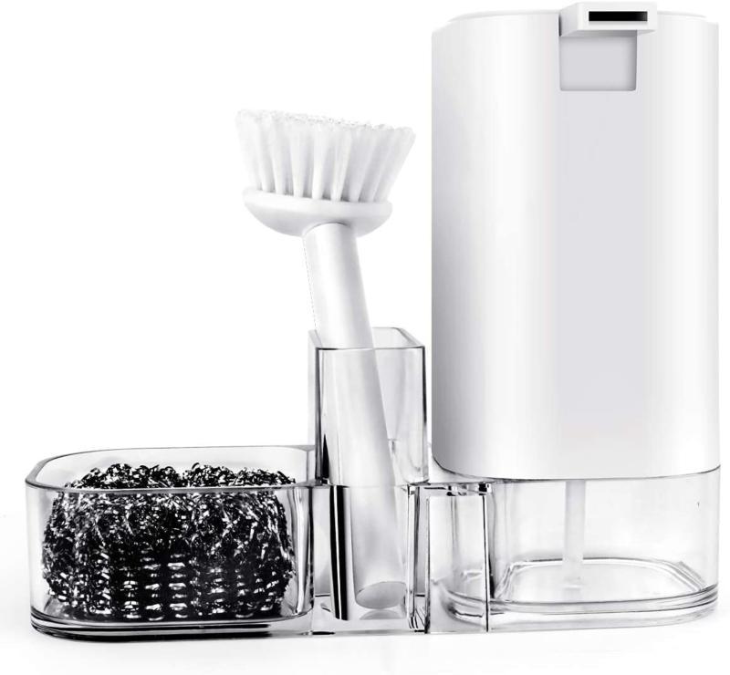 kitchen sink countertop organizer soap dispenser storage