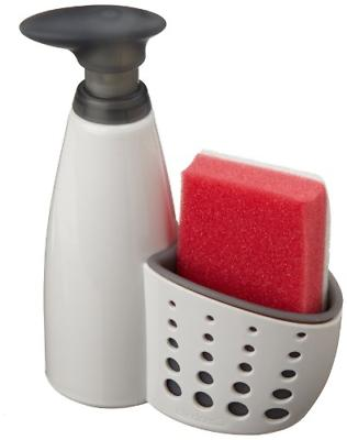 kitchen soap dispenser sink sider holder sponge