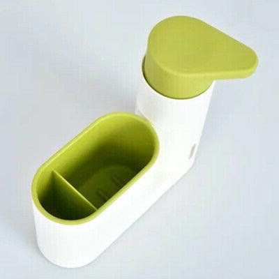 Bathroom Kitchen Sink Detergent Soap Dispenser Storage Spong