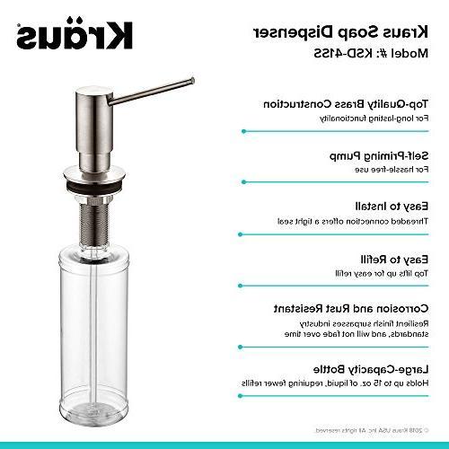 Kraus KSD-41SS Modern Soap Dispenser Steel