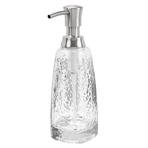 Liquid Dispenser Bottle Bathroom Countertop, Holds Hand Soap, Essential - 2 Pack -