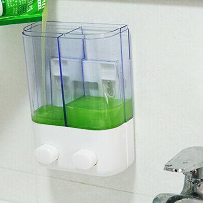 US Wall Soap Dispenser Liquid Toilet Shower Gel Pump