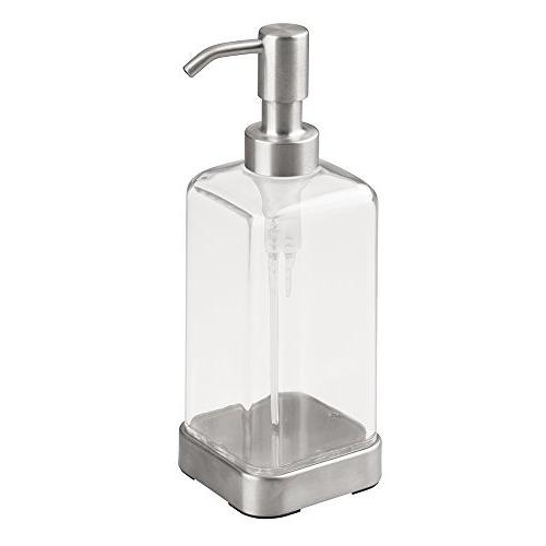mDesign Soap Dispenser - Clear/Stainless