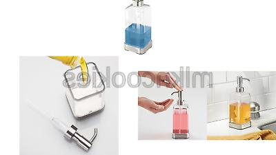 mDesign Soap Dispenser Pump - Clear/Stainless Steel