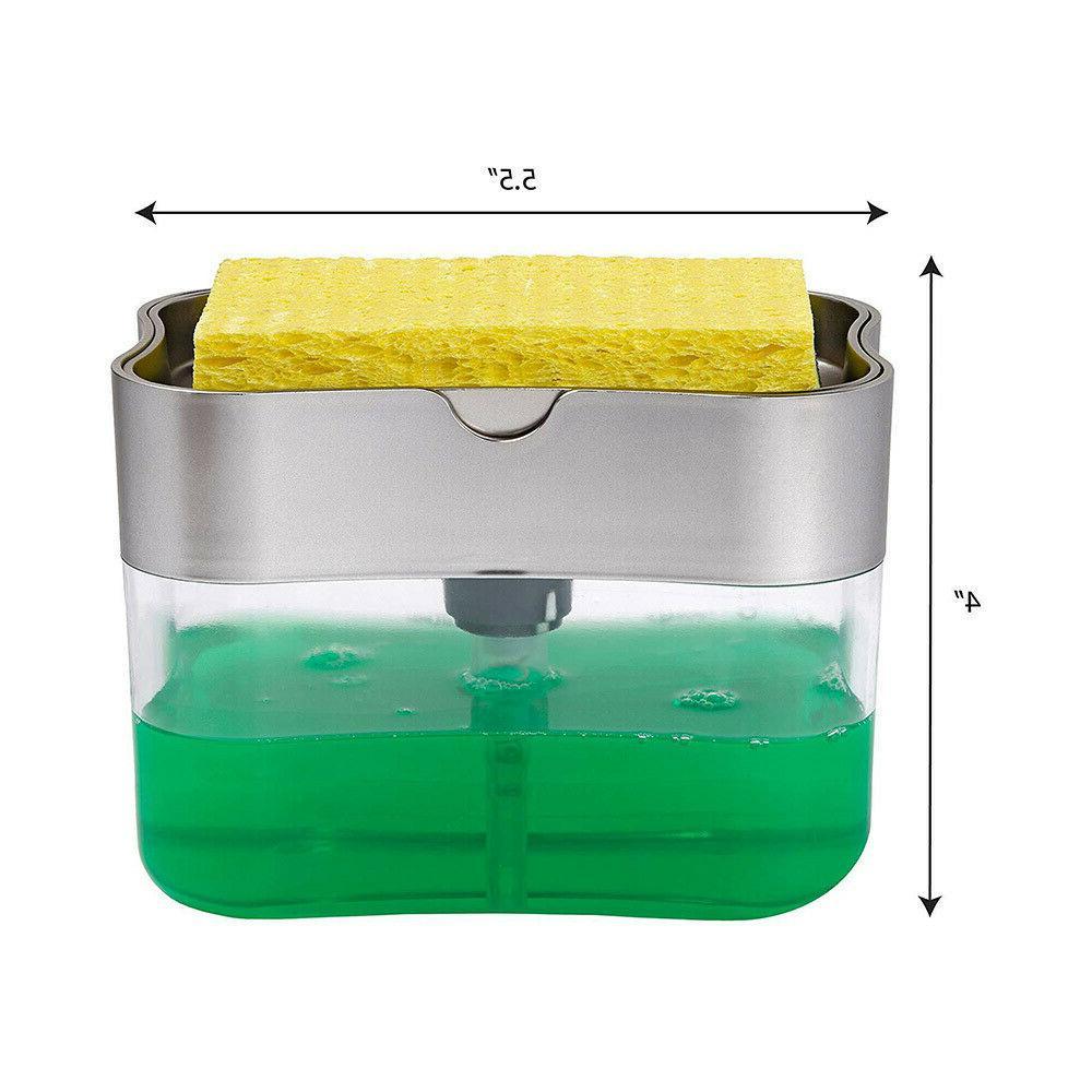 Tray Sponge Manual Press Soap Organizer
