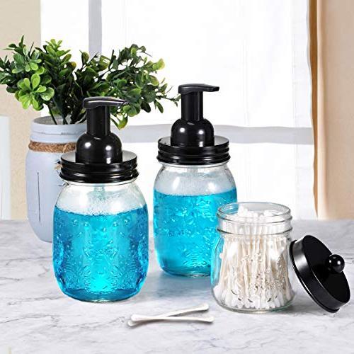 Dispenser 304 Jar Lid Foam Soap Pump,Best Hand Dispenser Glass Pack