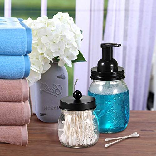 Mason Foaming Dispenser - 304 Steel Maons Jar Lid Soap Hand Dispenser Glass Bathroom Vanities,Kitchen Sink,Countertops - Pack