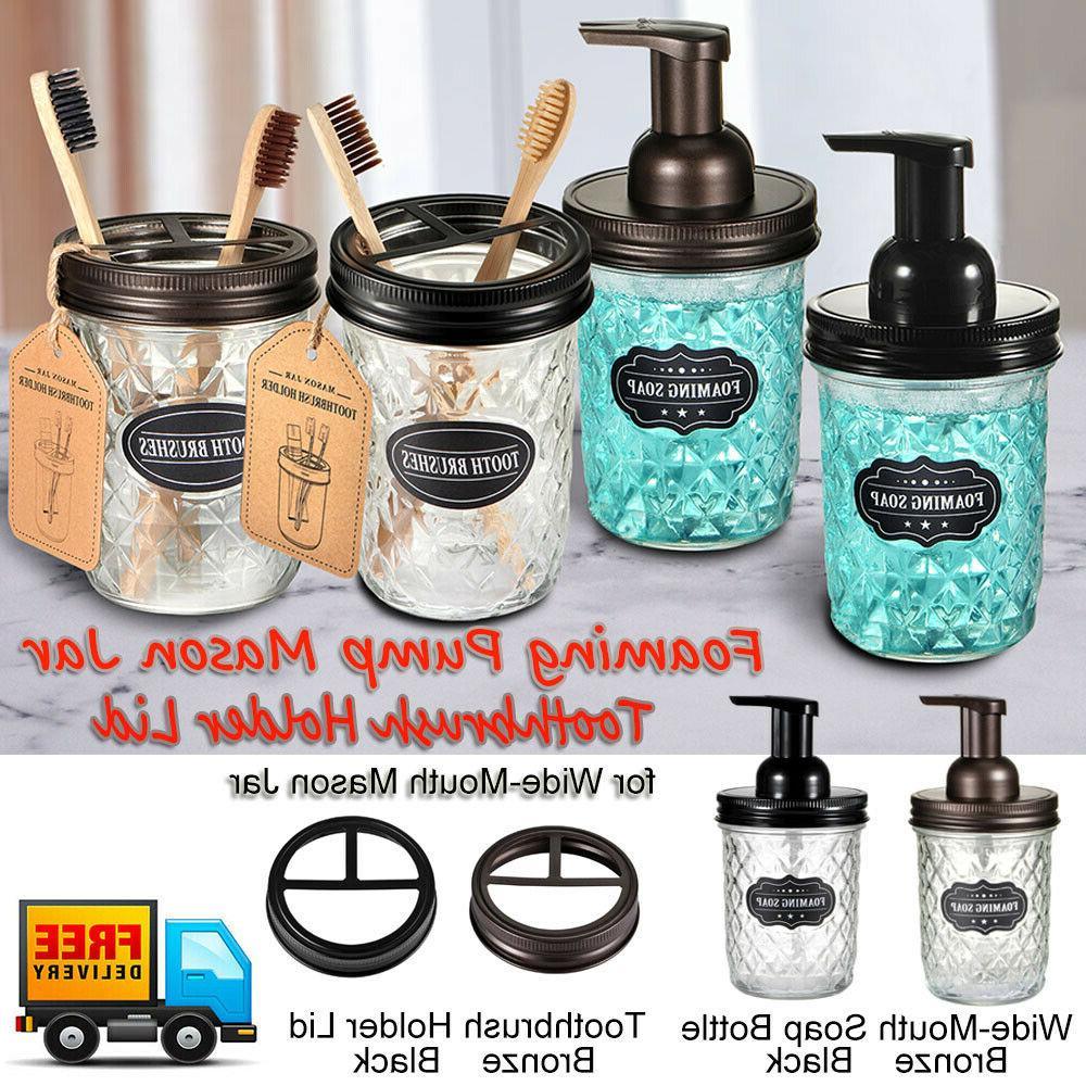 mason jar foaming soap dispenser pump apothecary