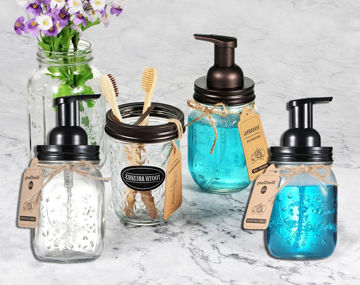 Mason Jar Soap Dispenser Pump &Replacement Jar Lids