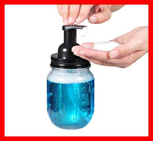Mason Jar Foaming Dispenser Stainless Pack