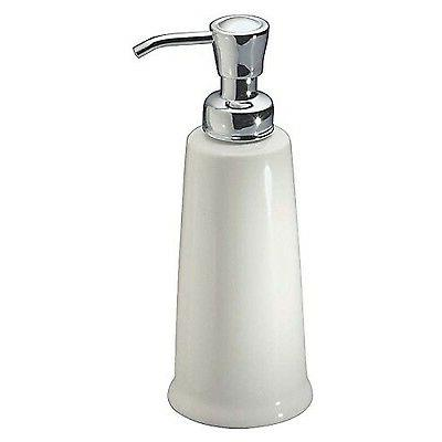 mDesign Ceramic Kitchen and Bath Soap and Lotion Dispenser W