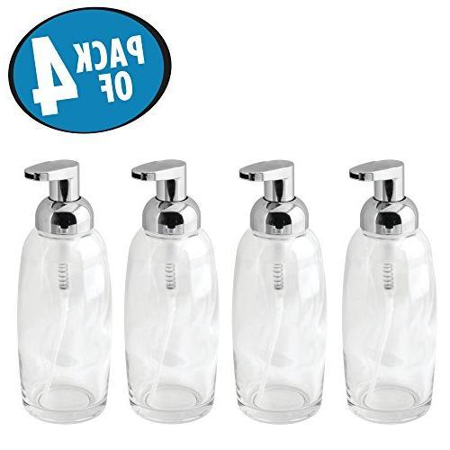 mdesign foaming soap glass dispenser