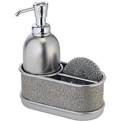 black metal soap dispenser