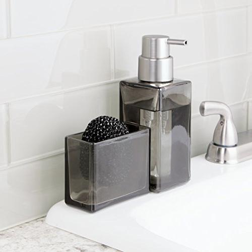 mDesign Modern Sink Countertop Liquid Hand Soap Pump Caddy - and -