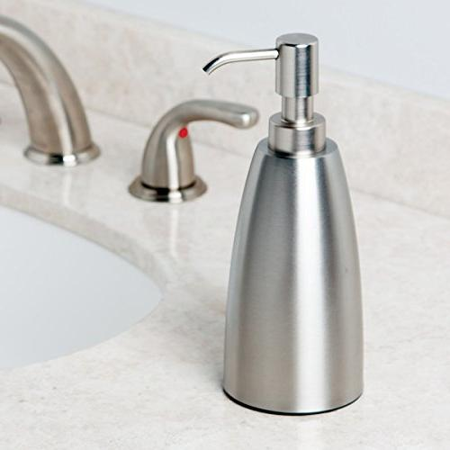 mDesign Dispenser Kitchen, Bathroom Can be Used Hand Essential Oils Steel
