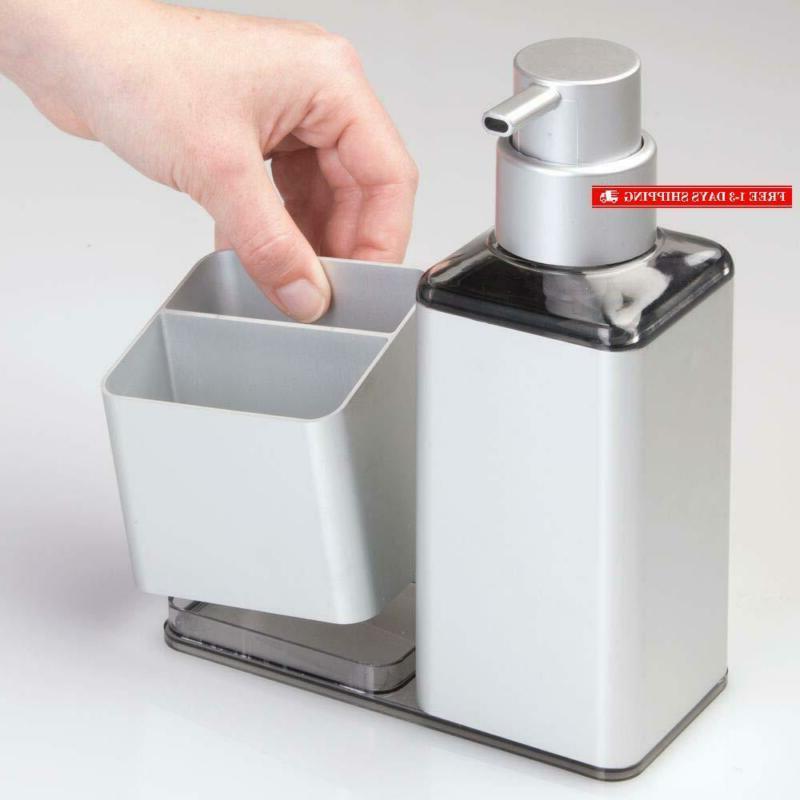 Mdesign Aluminum Sink Countertop Liquid Hand Soap Dispenser