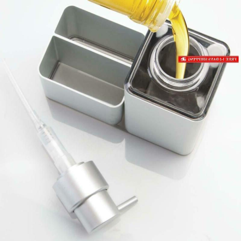 Mdesign Modern Aluminum Sink Countertop Soap Dispenser