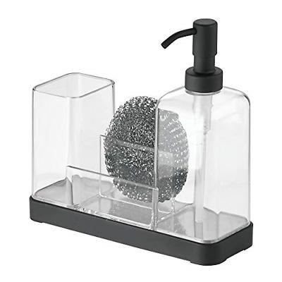 mDesign Plastic Sink Countertop Liquid Soap Dispenser -