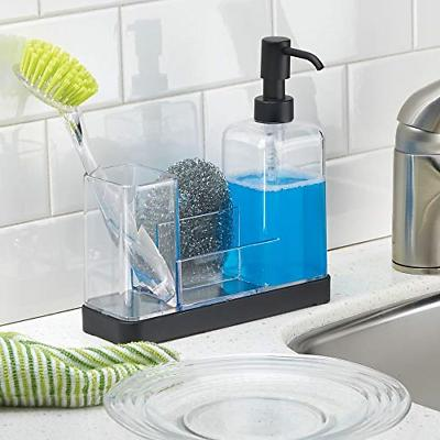 mDesign Plastic Sink Countertop Liquid Soap