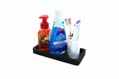 "Organizer Soap and Holder 10"" Tray Kitchen Black"