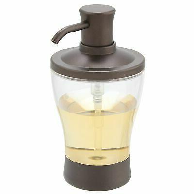 mDesign Plastic Refillable Soap Dispenser Pump, 2