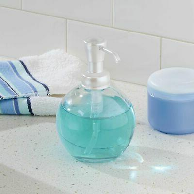 mdesign foaming glass soap dispenser