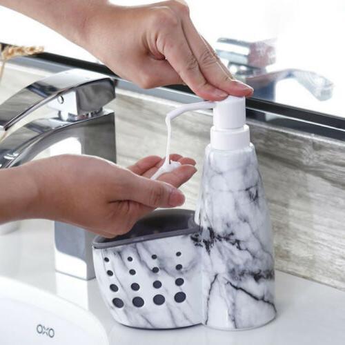 pump soap dispenser sponge caddy holder storage