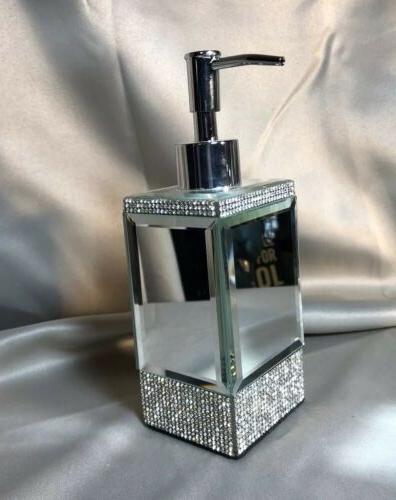 rhinestone and mirror crystal soap lotion pump
